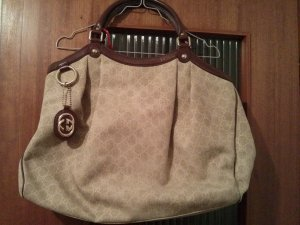 GUCCI Beige Large Canvas Sukey