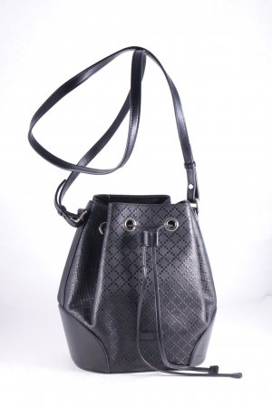 "Gucci Beuteltasche ""Bright Diamante Leather Bucket Bag Black"" schwarz"