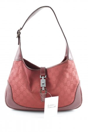 Gucci Pouch Bag carmine monogram pattern casual look