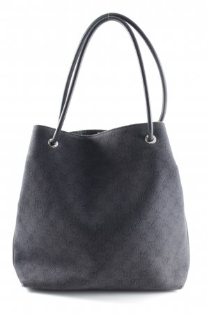 Gucci Beuteltasche schwarz-grau Monogram-Muster Street-Fashion-Look