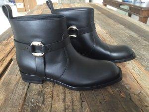 Gucci Biker Boot Cirano lux Chealsy Leder Gr 38,5 Neu schwarz NP 1.150€