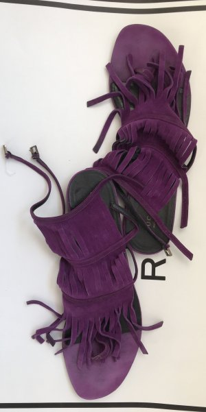 Gucci Roman Sandals dark violet-lilac