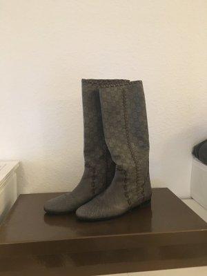 Gucci Botte gris cuir