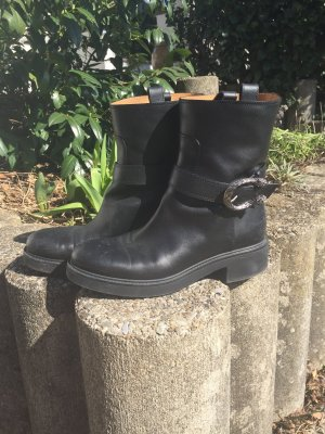 Gucci Chelsea Boots black-silver-colored
