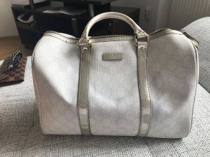 Gucci Boston Bag with silver handles