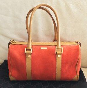 * GUCCI * BOSTON BOWLING BAG WILDLEDER Tasche orange