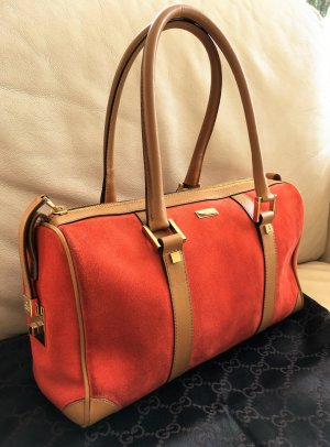 * GUCCI * BOSTON BOWLING BAG WILDLEDER Tasche orange