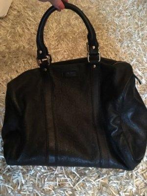 GUCCI Boston Monogram Handtasche Leder