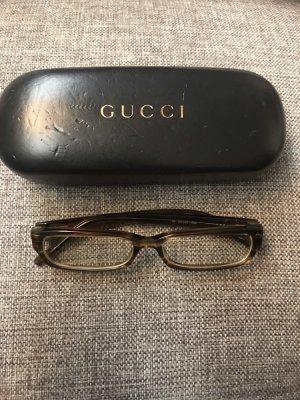Gucci Brille braun silber schmal Trend Blogger
