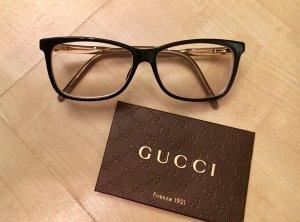 GUCCI Brille, Fassung, Brillenfassung gold/schwarz