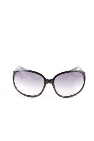 Gucci Bril zwart-lila kleurverloop zakelijke stijl