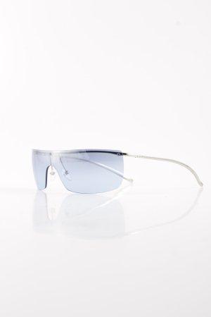 Gucci Brille silberfarben-himmelblau sportlicher Stil