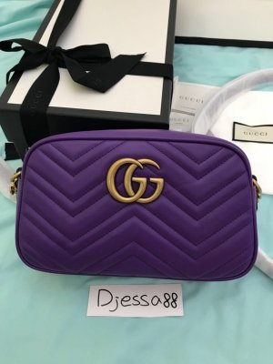 Gucci Crossbody bag lilac-gold-colored leather