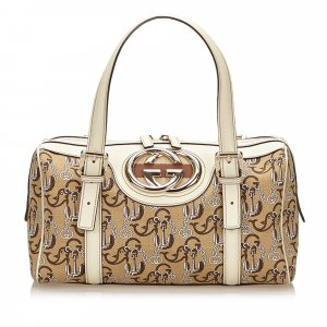 Gucci Canvas Britt Handbag