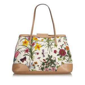 Gucci Canvas Floral Tote Bag