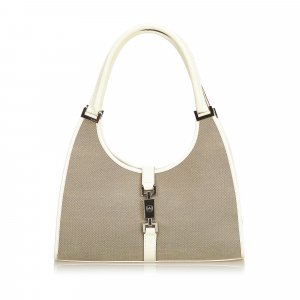 c484ba64cc6a7 Gucci Canvas Jackie Shoulder Bag