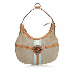 Gucci Canvas Reins Hobo