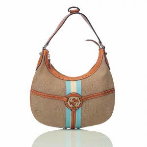 Gucci Canvas Reins Hobo Bag