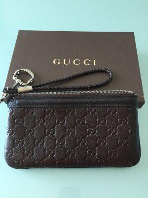 Gucci Pochette brun foncé cuir