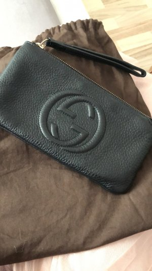 Gucci Clutch black-sand brown leather