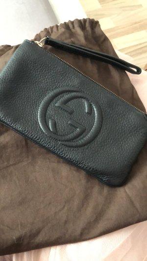 Gucci Borsa clutch nero-sabbia Pelle