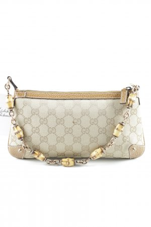 Gucci Clutch braun-sandbraun Monogram-Muster Elegant