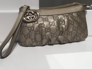 Gucci Clutch Gold Leder Original