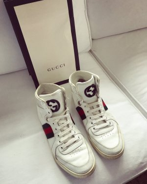 Gucci High Top Sneaker white