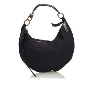 Gucci Cotton Half Moon Hobo Bag
