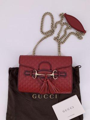 Gucci Sac porté épaule rouge carmin-rouge foncé cuir