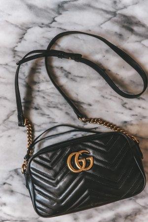 Gucci Handtas zwart-goud Leer
