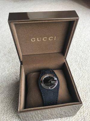 Gucci Orologio analogico nero-argento Fibra tessile