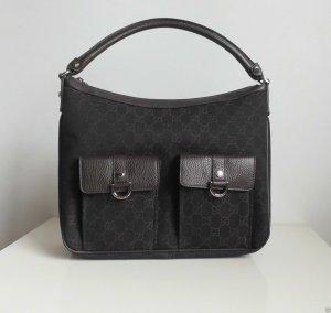 GUCCI Damen Tasche Handbag aus original GG Canvas, Braun/Schwarz, neu