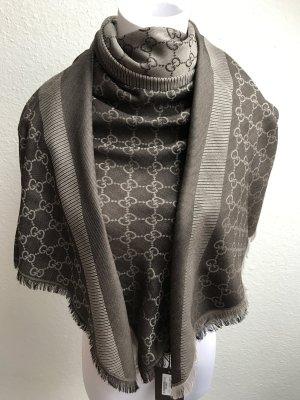 Gucci Damen Tuch Schal, Grau-braun, Neu