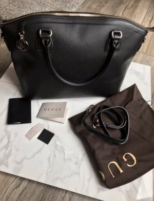 Gucci Damenhandtasche Dome Satchel Pebble Leather