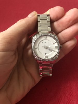 Gucci Analog Watch silver-colored-light grey stainless steel