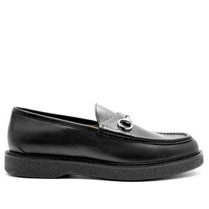 Gucci Delon Moccasin, Loafers, Schwarz, Leder, Gr. 40