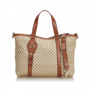 Gucci Diamante Canvas Satchel