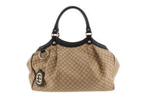 Gucci Diamante Canvas Sukey Handbag