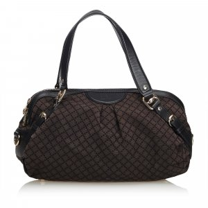 Gucci Diamante Canvas Sukey Handbag
