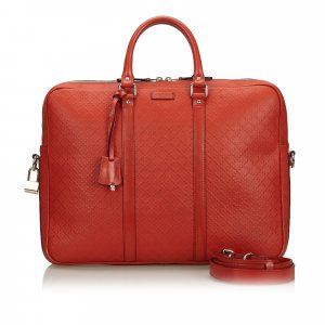 Gucci Business Bag red leather