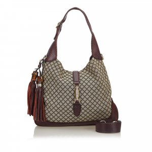 Gucci Diamante New Jackie Tassel Satchel