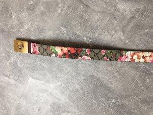 Gucci Cinturón de cuero gris-rosa