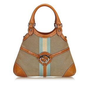 Gucci Double G Canvas Handbag
