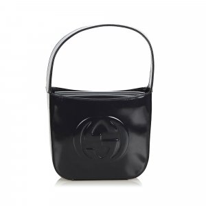 Gucci Double G Patent Leather Handbag
