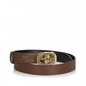 Gucci Double G Reversible Leather Belt