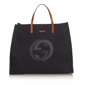 Gucci Double G Wool Tote Bag