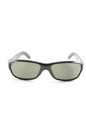 Gucci eckige Sonnenbrille schwarz-grün Business-Look