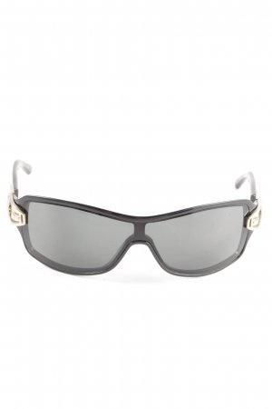 Gucci eckige Sonnenbrille schwarz-goldfarben Business-Look