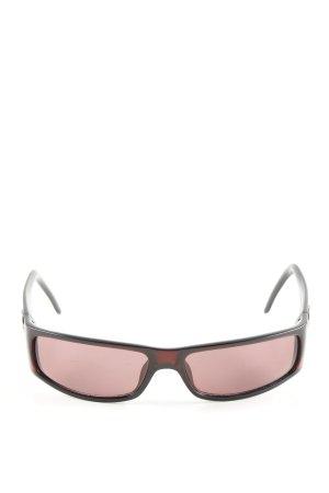 Gucci Hoekige zonnebril rood-zwart kleurverloop casual uitstraling